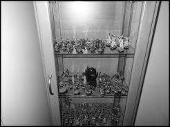 La vitrine de plus près. Les places deviennent chères mais je sors régulièrement les vieux trucs pour les cacher en malettes :)